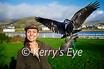 Andi Chewning from Kingdom Falconry in Dingle with her raven Oisin who will star alongside Nicole Kidman in a new film.