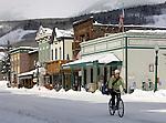 Elk Avenue, downtown Crested Butte, CO. © Michael Brands. 970-379-1885.