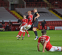 4th May 2021; The Valley, London, England; English Football League One Football, Charlton Athletic versus Lincoln City; Watson of Charlton watches as Tom Hopper scores for 3-1 in minute 88