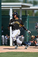 Pittsburgh Pirates Jose Osuna (57) during a minor league spring training game against the New York Yankees on March 28, 2015 at Pirate City in Bradenton, Florida.  (Mike Janes/Four Seam Images)