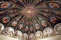 Affreschi di Correggio nella cupola della Camera di San Paolo a Parma.<br /> The frescoed dome by Correggio in the Camera di San Paolo (St. Paul's Room), Parma.<br /> UPDATE IMAGES PRESS/Riccardo De Luca