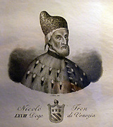 Portrait of Nicolò Tron 1473. The Venetian Doge.
