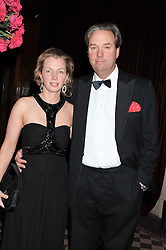 HELEN ASPREY and NIGEL HAWKINS at the Red & Black Valentine's Dinner & Dance in aid of The Eve Appeal at One Mayfair, North Audley Street, London W1 on 14th February 2013.