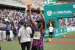 10062018 (Durban) Bong'musa Mthembu ensured that the coveted titles remained on these shores when he finnish first at the Mosses Mabhida stadium venue during the Comrades Marathon on Sunday .<br /> Picture: Motshwari Mofokeng/African News Agency/ANA