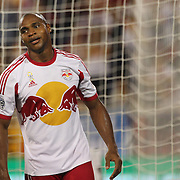 Jámison Olave, New York Red Bulls, in action during the New York Red Bulls Vs Seattle Sounders, Major League Soccer regular season match at Red Bull Arena, Harrison, New Jersey. USA. 20th September 2014. Photo Tim Clayton