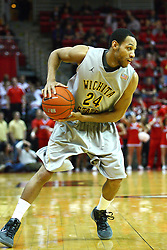 22 February 2012:  David Kyles  during an NCAA Missouri Valley Conference mens basketball game between the Wichita State Shockers and the Illinois State Redbirds in Redbird Arena, Normal IL