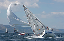 Sailing - SCOTLAND  - 25th-28th May 2018<br /> <br /> The Scottish Series 2018, organised by the  Clyde Cruising Club, <br /> <br /> First days racing on Loch Fyne.<br /> <br /> IRL1666, Carmen II, Jeffrey/Scutt, CCC/HSC, First 36.7<br /> <br /> Credit : Marc Turner<br /> <br /> <br /> Event is supported by Helly Hansen, Luddon, Silvers Marine, Tunnocks, Hempel and Argyll & Bute Council along with Bowmore, The Botanist and The Botanist
