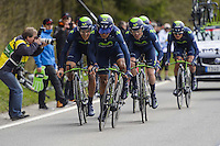Quintana Rojas Nairo Alexander - Movistar - 28.04.2015 - Tour de Romandie - Etape 01 : Vallee de Joux / Juraparc - CLM Par Equipes<br />Photo : Sirotti / Icon Sport  *** Local Caption ***