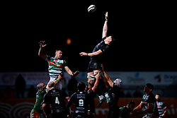 Guinness PRO14, Rodney Parade, Newport, UK 06/03/2020<br /> Dragons vs Benetton Rugby<br /> Matthew Screech of Dragons wins the line out<br /> Mandatory Credit ©INPHO/Ryan Hiscott