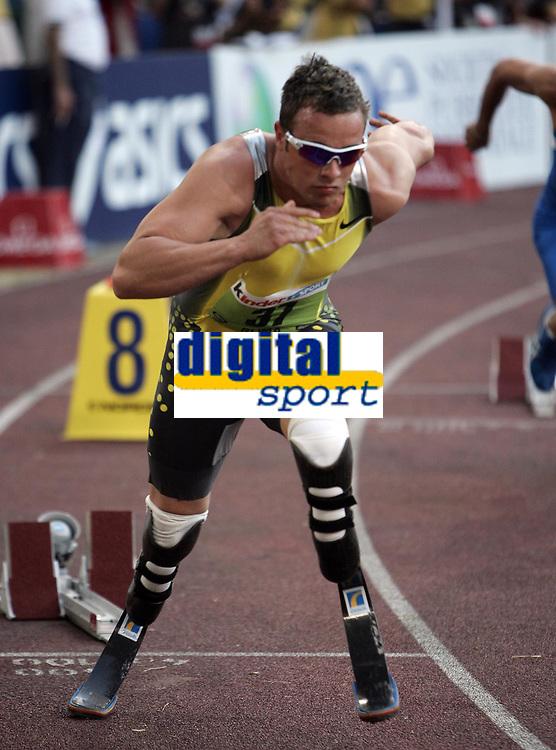 Friidrett<br /> Golden League Roma<br /> 13.07.2007<br /> Foto: Inside/Digitalsport<br /> NORWAY ONLY<br /> <br /> Oscar Pistorius - 400 meter