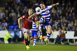 16 May 2017 - Sky Bet Championship - Play-off 2nd Leg - Reading v Fulham - Yann Kermorgant of Reading in action with Kevin McDonald of Fulham - Photo: Marc Atkins / Offside.