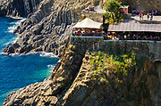 Restaurant along the Via dell'Amore (The Way of Love), Riomaggiore, Cinque Terre, Liguria, Italy