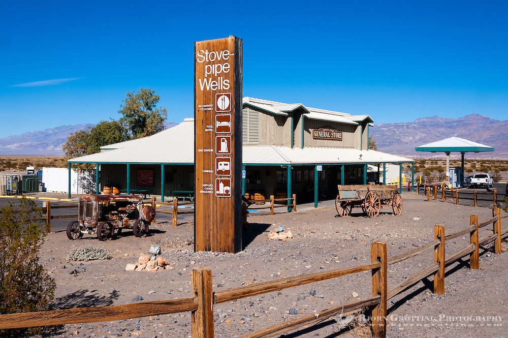 United States, California, Death Valley. Stovepipe Wells, the small way-station in the northern part of Death Valley. The Welcome center.