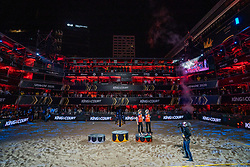 Madelein Meppelink, Sanne Keizer during the ceremony on the last day of the beach volleyball event King of the Court at Jaarbeursplein on September 12, 2020 in Utrecht.