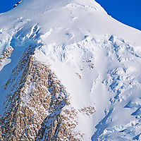 ANTARCTICA. Summit Glacier and icefall on unnamed 3440-meter peak just south of Mount Vaughan in the Queen Maud Mountains, a part of the vast Trans-Antarctic Mountains.