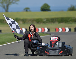 Scottish Labour leader Kezia Dugdale goes racing at Raceland in East Lothian where she took part in a photo op to highlight Scottish Labour's intention to beat the SNP.<br />