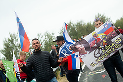 Supporters of Slovenia during Men Elite Road Race at UCI Road World Championship 2020, on September 27, 2020 in Imola, Italy. Photo by Vid Ponikvar / Sportida