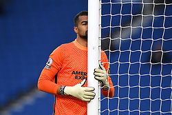 Brighton and Hove Albion goalkeeper Robert Sanchez prior to kick-off during the Premier League match at the American Express Community Stadium, Brighton. Picture date: Saturday May 15, 2021.
