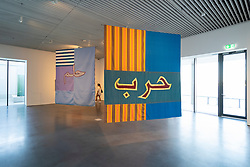 View of art installation at  Jameel Arts Centre in Dubai, UAE, United Arab Emirates
