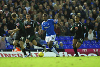 Photo: Dave Linney.<br />Birmingham City v Plymouth Argyle. Coca Cola Championship. 02/12/2006. Bham City's  Cameron Jerome<br />trys to find a way through the Plymouth defence.