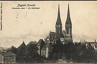 Zagreb (Croatie) : Prvostolna crkva = La Cathédrale. <br /> <br /> ImpresumZagreb : Naklada Jul. Hühna, [1908].<br /> Materijalni opis1 razglednica : tisak ; 9 x 13,9 cm.<br /> NakladnikJulije Hühn<br /> Mjesto izdavanjaZagreb<br /> Vrstavizualna građa • razglednice<br /> ZbirkaGrafička zbirka NSK • Zbirka razglednica<br /> Formatimage/jpeg<br /> PredmetZagreb –– Kaptol<br /> Katedrala Uznesenja Marijina (Zagreb)<br /> SignaturaRZG-KAP-12<br /> Obuhvat(vremenski)20. stoljeće<br /> NapomenaRazglednica je putovala 1908. godine.<br /> PravaJavno dobro<br /> Identifikatori000955305<br /> NBN.HRNBN: urn:nbn:hr:238:148616 <br /> <br /> Izvor: Digitalne zbirke Nacionalne i sveučilišne knjižnice u Zagrebu