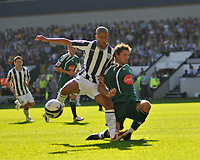 Photo: Tony Oudot/Richard Lane Photography. West Bromwich Albion v Plymouth Argyle. Coca Cola Championship. 12/09/2009. <br /> Gianni Zuiverloon of WBA is challenged by Jim Paterson of Plymouth