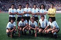 ARGENTINA TEAM GROUP <br />WORLD CUP 1974 <br />ARGENTINA V BRAZIL 06/07/1974<br />PHOTO ROGER PARKER FOTOSPORTS INTERNATIONAL