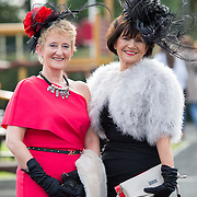 09.10.2016           <br /> Attend the Keanes Jewellers Best dressed competition at Limerick Racecourse were, Anne Maguire, Murroe Co. Limerick and Ann Hynes, Murroe Co. Limerick. Picture: Alan Place