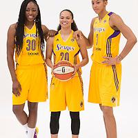Los Angeles Sparks forward Nneka Ogwumike (30), Los Angeles Sparks guard Kristi Toliver (20), Los Angeles Sparks forward/center Candace Parker (3)