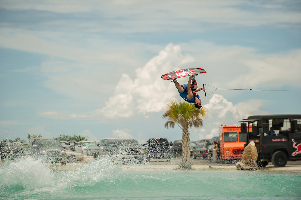 Phiol Soven performs at the Red Bull Wake Open in Tampa Bay, Florida, USA on July 7, 2012