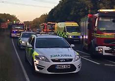 A36 Car Fire Collsion