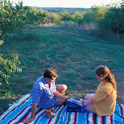 Relaxing at the orchards at the J and F Farm.  Derry, NH