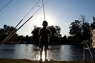 Kyler Williams gets ready to cast his line during the Little Balkans Days fishing derby, Sep. 5, 2010.