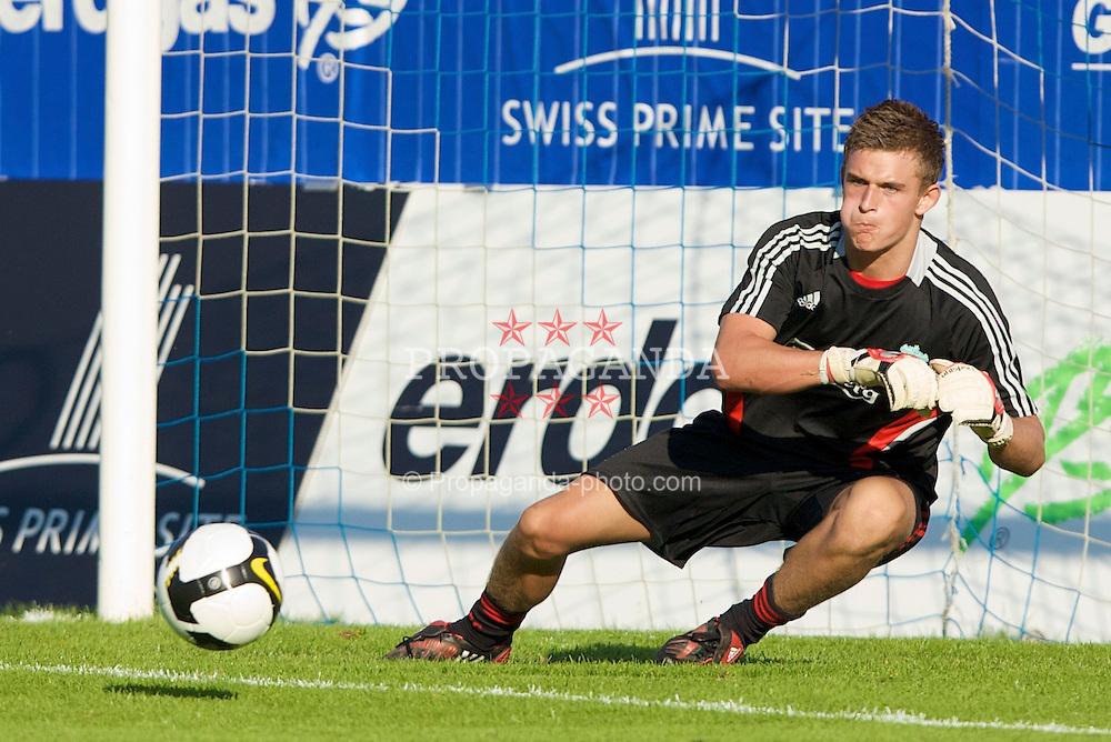 GRENCHEN, SWITZERLAND - Wednesday, July 16, 2008: Liverpool's goalkeeper Martin Hansen before a pre-season friendly at Stadion Bruhl. (Photo by David Rawcliffe/Propaganda)