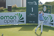 Jamie Donaldson (WAL) on the 1st during Round 4 of the Oman Open 2020 at the Al Mouj Golf Club, Muscat, Oman . 01/03/2020<br /> Picture: Golffile   Thos Caffrey<br /> <br /> <br /> All photo usage must carry mandatory copyright credit (© Golffile   Thos Caffrey)