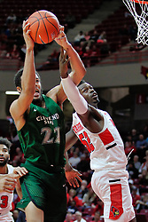 NORMAL, IL - December 16: Jaalam Hill  and Malik Yarbrough during a college basketball game between the ISU Redbirds and the Cleveland State Vikings on December 16 2018 at Redbird Arena in Normal, IL. (Photo by Alan Look)