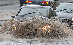 © Licensed to London News Pictures. 15/11/2020.  <br /> Aylesford, UK. A car in deep flood water, Severe flooding to roads in Aylesford near Maidstone in Kent. Over one hundred flood alerts are put in place by the Met Office today as the UK is hit with heavy overnight rain and gale force winds. Photo credit:Grant Falvey/LNP
