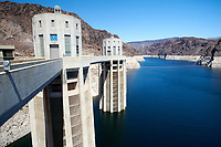 Water in-flow towers , Hoover Dam , Nevada, USA