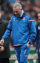 Stoke City's manager Paul Lambert