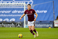 John Souttar (#4) of Heart of Midlothian FC makes his comeback from injury during the SPFL Championship match between Heart of Midlothian FC and Alloa Athletic FC at Tynecastle Park, Edinburgh, Scotland on 9 April 2021.