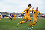 Newport's Adam Chapman © celebrates after he scores his sides 2nd goal from a penalty.  Skybet football league two match, Newport county v Chesterfield at Rodney Parade in Newport, South Wales on Sunday 1st Dec 2013. pic by Andrew Orchard, Andrew Orchard sports photography,