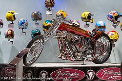 "Arlen Ness' ""Untouchable"" in the ""Built for Speed"" exhibition curated by Michael Lichter and Paul D'Orleans in the Russ Brown Events Center as part of the annual ""Motorcycles as Art"" series at the Sturgis Buffalo Chip during the Black Hills Motorcycle Rally. SD, USA. August 7, 2014.  Photography ©2014 Michael Lichter."