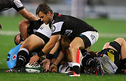 Stefan Ungerer of the Sharsk during the Currie Cup match between the The Sharks and The Blue Bulls held at King's Park, Durban, South Africa on the 27th August 2016<br /> <br /> Photo by:   Anesh Debiky / Real Time Images