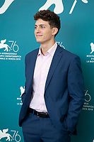 Venice, Italy, 31st August 2019, Andrea Calligari at the photocall for the film Vivere (To Live) at the 76th Venice Film Festival, Sala Grande. Credit: Doreen Kennedy/Alamy Live News