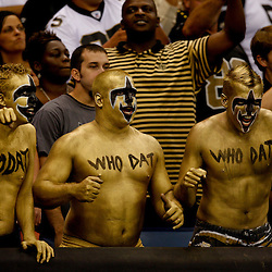 September 9, 2010; New Orleans, LA, USA;  New Orleans Saints fans cheer during the NFL Kickoff season opener at the Louisiana Superdome. The New Orleans Saints defeated the Minnesota Vikings 14-9.  Mandatory Credit: Derick E. Hingle