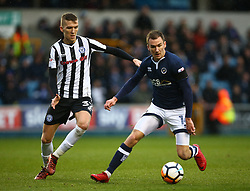 January 27, 2018 - London, United Kingdom - Jed Wallace of Millwall (Right).during FA Cup 4th Round match between Millwall against Rochdale  at The Den, London on 27 Jan 2018  (Credit Image: © Kieran Galvin/NurPhoto via ZUMA Press)