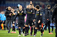 Manchester City defender Angelino (12)m30\ and Manchester City midfielder David Silva (21) after the Premier League match between Burnley and Manchester City at Turf Moor, Burnley, England on 3 December 2019.