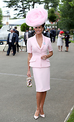 Isabell Kristensen arriving during day one of Royal Ascot at Ascot Racecourse.