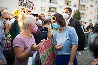 Berlin, 07.09.2021: Pankow, Minna-Flake-Platz, Wahlkampfveranstaltung von BÜNDNIS 90/DIE GRÜNEN anlässlich des Weltbildungstages mit der Grünen-Kanzlerkandidatin Annalena Baerbock.