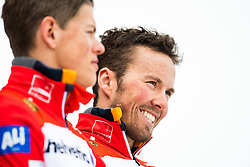 February 24, 2019 - Seefeld In Tirol, AUSTRIA - 190224 Gold medalists Johannes HÂ¿sflot Kl¾bo and Emil Iversen of Norway at the flower ceremony after the men's team sprint during the FIS Nordic World Ski Championships on February 24, 2019 in Seefeld in Tirol..Photo: Vegard Wivestad GrÂ¿tt / BILDBYRN / kod VG / 170296 (Credit Image: © Vegard Wivestad Gr¯Tt/Bildbyran via ZUMA Press)